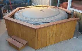 how to build an inflatable hot tub surround round designs
