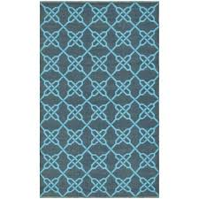 handmade thom filicia tioga spray blue outdoor rug 3 x 5