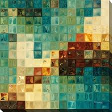 mark lawrence aqua tiles giclee stretched canvas wall art on wall art tiles canada with mark lawrence aqua tiles giclee stretched canvas wall art ships