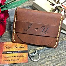 flap wallet anniversary gifts for him personalized wallet leather wallet birthday gift for him groomsmen leather gift niceleather nl101