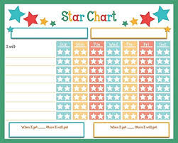Weekly Star Chart Children Weekly Rainbow Chore Rewards Chart Dry Erase