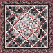Free Downloadable Quilt Patterns & Black White and Currant Quilt Pattern by Henry Glass Fabrics.
