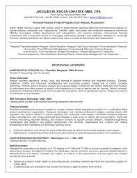 Senior Financial Analyst Resume Sample Entry Level Finance Samples