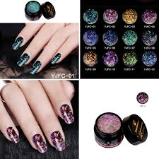 clear glitter sparkling sequins nail art diy gel top coat polish varnish exquisi