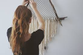 Making Dream Catchers Supplies DIY Giant Triangle Driftwood Crystal Dreamcatcher 86