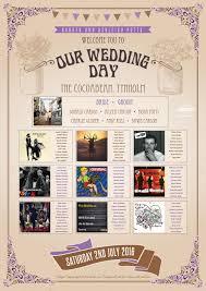 Wedding Seating Plan Wedfest Festival Themed Wedding