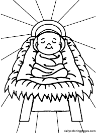 Small Picture Coloring Pages Of Baby Jesus Coloring Page For Baby Jesus In New