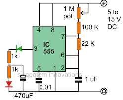 make interesting flasher and fader led circuits using ic 555 12 Volt Flasher Circuit Diagram here, the led which is connected to the 1 k resistor blinks at the fixed blinking rate, but the next led which is connected to the ground switches rapidly 12 volt led flasher circuit diagram