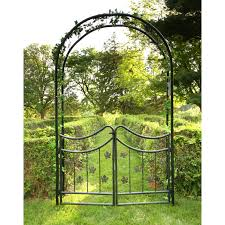 Small Picture Garden Arbor With Gate Monaco Inside Decorating