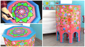 how to decorate furniture. How To Paint And Decorate Furniture With Zentangle Art Mandalas N