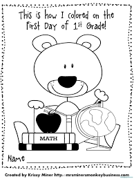 coloring pages for days of the week new back to school coloring pages for first grade