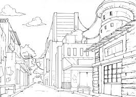 perspective drawings of buildings. Drawing Buildings In Perspective One Point | Drawings Of