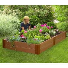 composite raised garden bed. Delighful Bed Frame It All 1inch Series Composite Raised Garden Bed Kit  4ft X Intended A
