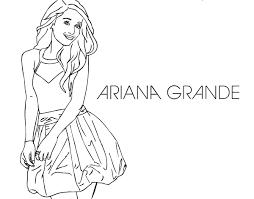 Small Picture Ariana Grande coloring page Coloringcrewcom