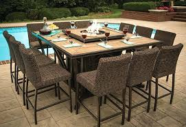 good patio furniture fire pit table set or image of bar height fire pit table set
