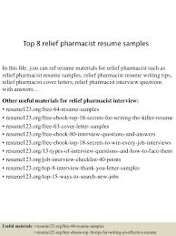 100 Pharmacist Consultant Resume Cover Letter Cover Letter