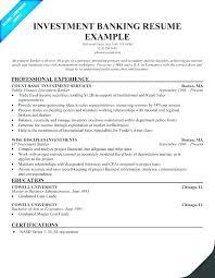 Sample Investment Banking Resume – Rainbowbrain.me