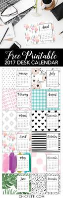 free printable calendar 2017 chicfetti blog