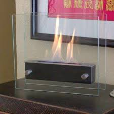 tabletop decorative bio ethanol fireplace in black