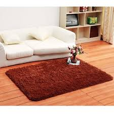 Fluffy Rugs Anti-Skiding Shaggy Area Rug Dining Room Carpet Floor Mats  Brown shaggy rugs