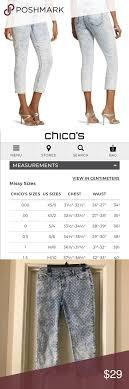 Chicos Jeans Size Chart Chicos Platinum Acid Wash Polka Dot Jeans See Chicos
