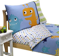 monster toddler bedding set frightful friends bed