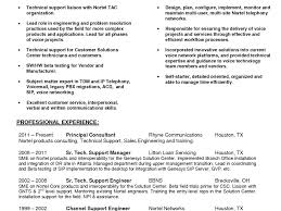 Technical Support Consultant Sample Resume Resume Title