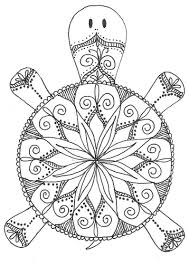 Small Picture Turtle Mandala Coloring Pages Pinteres
