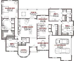 Four Bedroom House Plans Farmhouse Exterior Front Elevation Plan Small 4 Bedroom House Plans