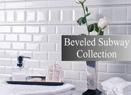 beveled subway tile