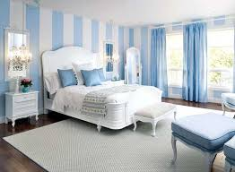 baby blue bedroom. Fine Blue White And Blue Striped Walls Light Curtains Decorative Pillows  Beautiful Bedroom Decor In White Color Scheme With Baby Blue Bedroom S