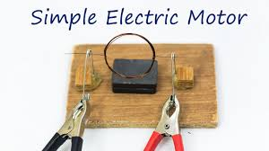 School Science Projects Simple electric motor YouTube