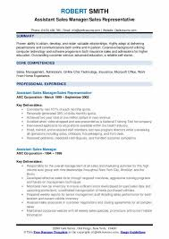 Assistant Sales Manager Resume Samples Qwikresume