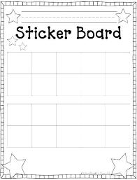 Sticker Reward Chart Printable Free Star Chart Template Wsopfreechips Co
