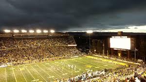 War Memorial Stadium Wyoming Seating Chart Snow Clouds Sunset Over War Memorial Stadium Laramie Wy