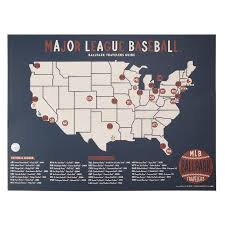 Mlb Ballpark Travelers Map Ball Fields Sports