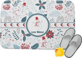 winter memory foam bath mat personalized