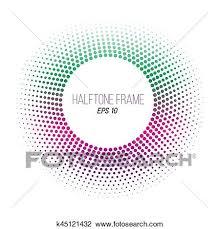 color halftone punteado frame