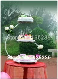 3 Tingkat 3060 Cm Iron Wedding Cake Stand Disesuaikan Dekorasi