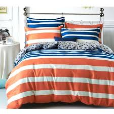 orange and blue duvet cover fashion modern orange blue striped full queen size cotton bed quilt