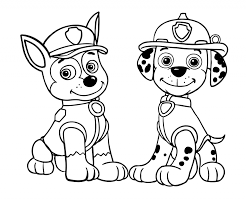 Coloring Pages Paw Patrol Chase Coloring Pages Printable Sheets
