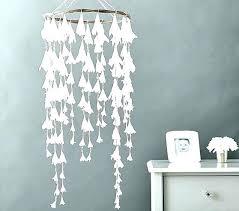white paper chandelier light fixture led pendant ceiling lamp wood black shades