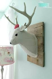 girl woodland nursery bedding baby girls final reveal the turquoise home faux plush deer head baby girl