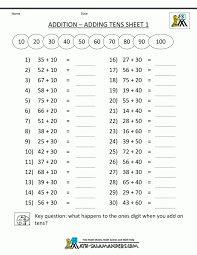 Make Addition Worksheets Ten Your Own And Subtraction Math Create ...