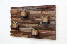 reclaimed wood wall art 37x24x5 large