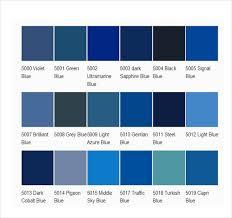 Pantone Color Chart Blue 15 Word Pantone Color Chart Templates Free Download Free