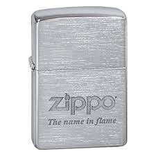 <b>Зажигалка ZIPPO</b> Name in <b>flame</b>, латунь с покрытием Brushed ...