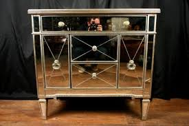 mirror chest cabinet commode mirrored furniture deco art deco mirrored furniture