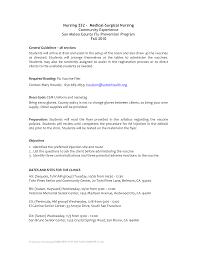 Registered Nurse Resume Medical Surgical Sample Resume Of Med