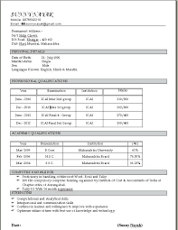 Latest Resume Format In India Latest Resume Format In Ms Word For